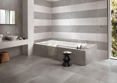 Carrelage horizontale pour la salle de bains