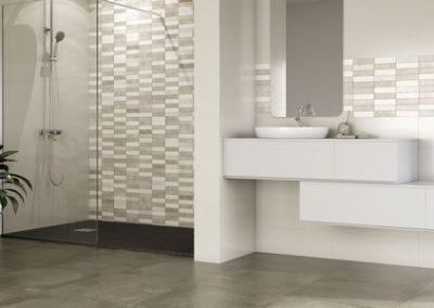Douche italienne avec un carrelages design