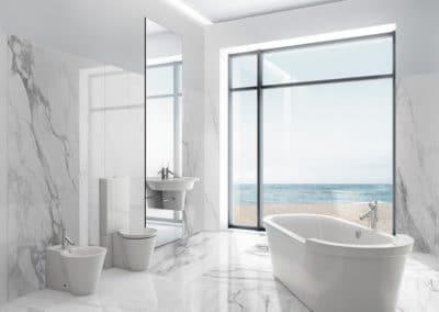 Carrelages effet marbre pour la salle de bains