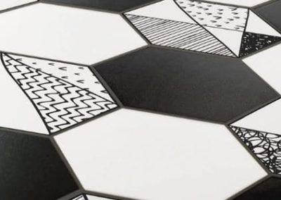 carrelages design hexagonaux